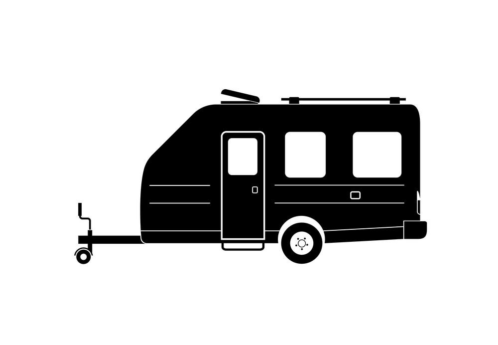 Icon Camper Trailer clipart