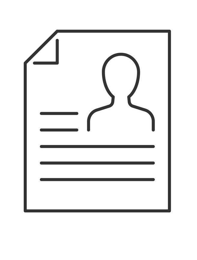 Icon Resume clipart