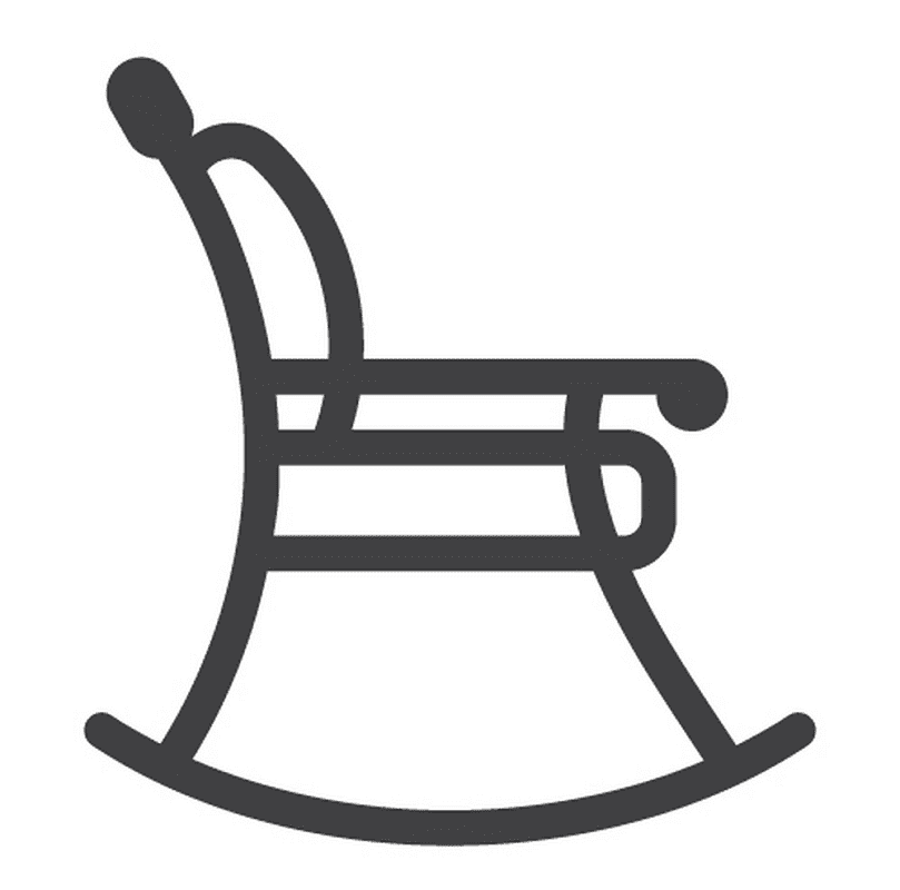 Icon Rocking Chair clipart