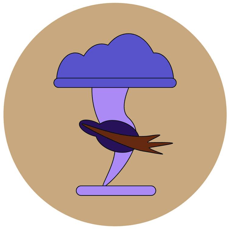 Icon Tornado clipart