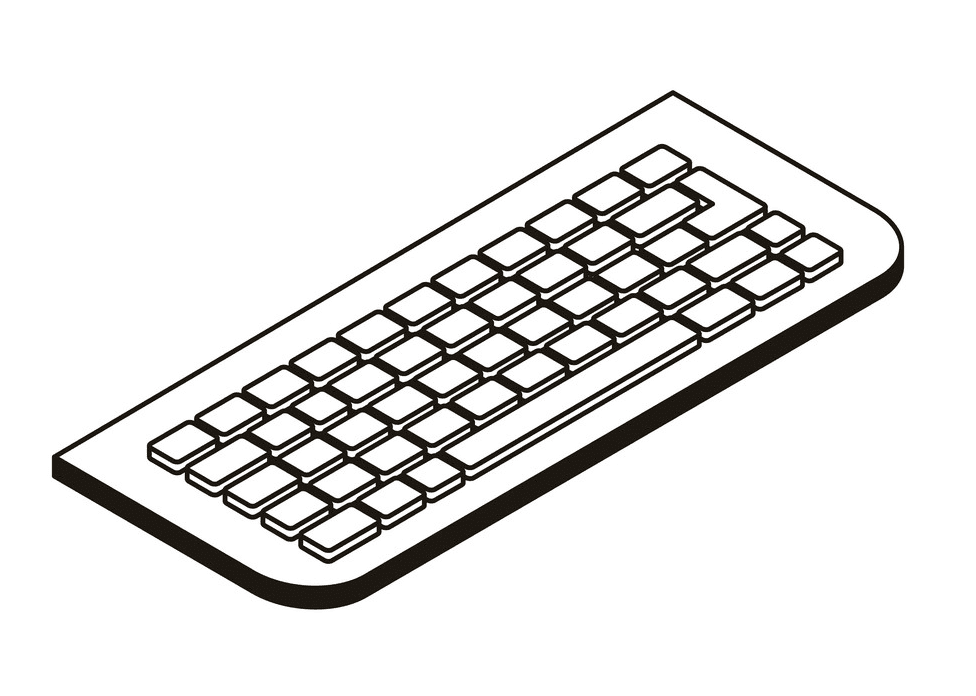 Keyboard Clipart Black and White 1