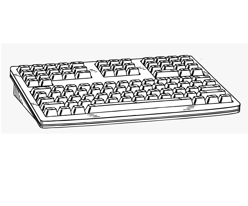 Keyboard Clipart Black and White free