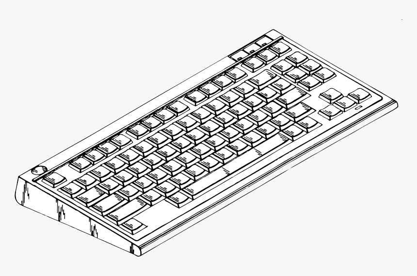 Keyboard Clipart Black and White png