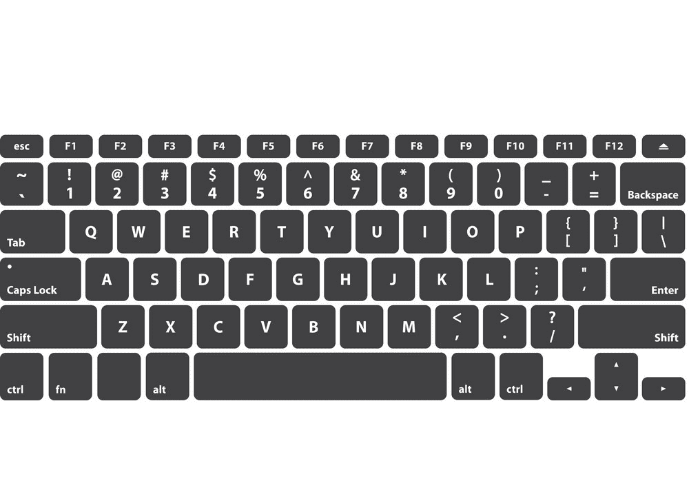 Keyboard clipart 2