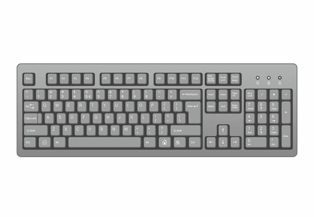 Keyboard clipart 3