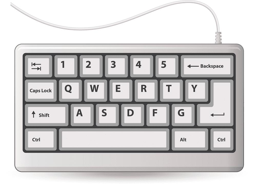 Keyboard clipart 4