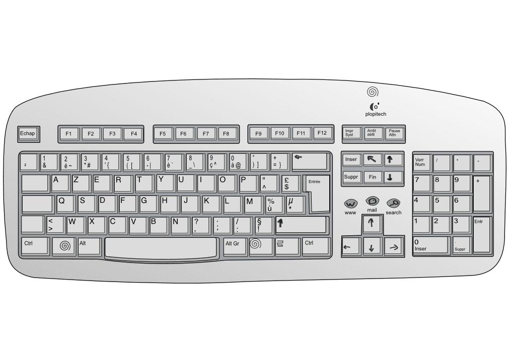 Keyboard clipart 5