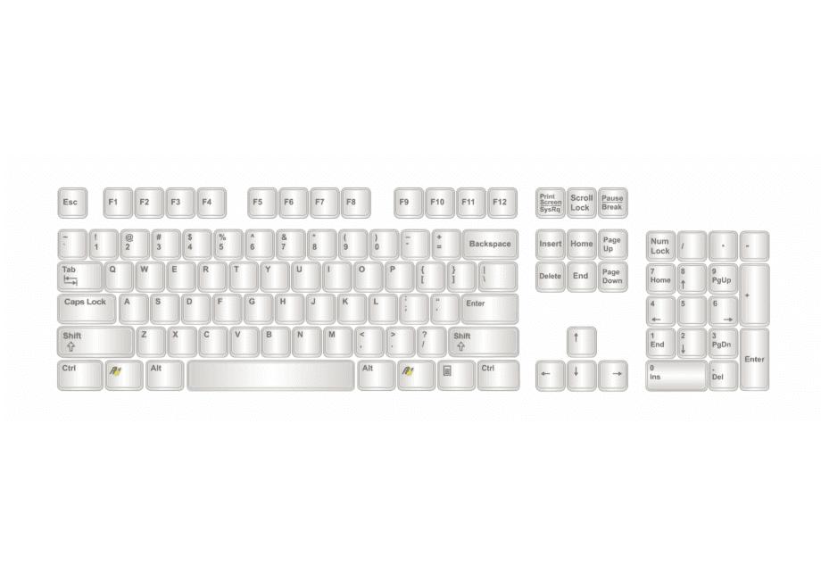 Keyboard clipart 7