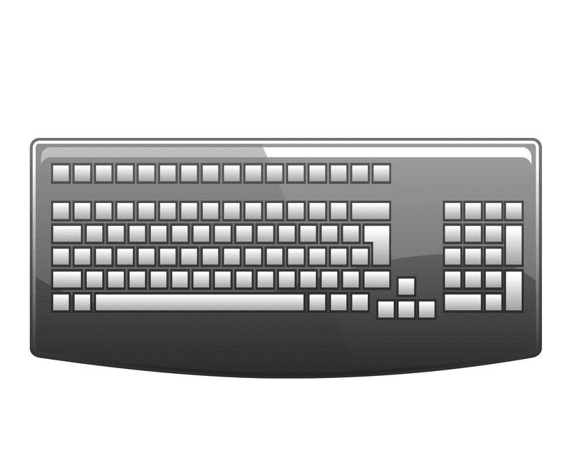 Keyboard clipart png