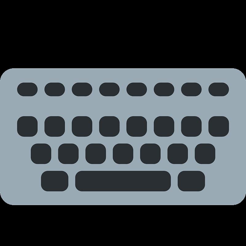 Keyboard clipart transparent 3