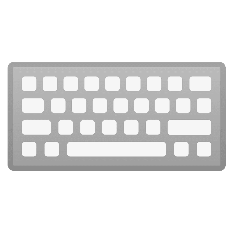 Keyboard clipart transparent 6