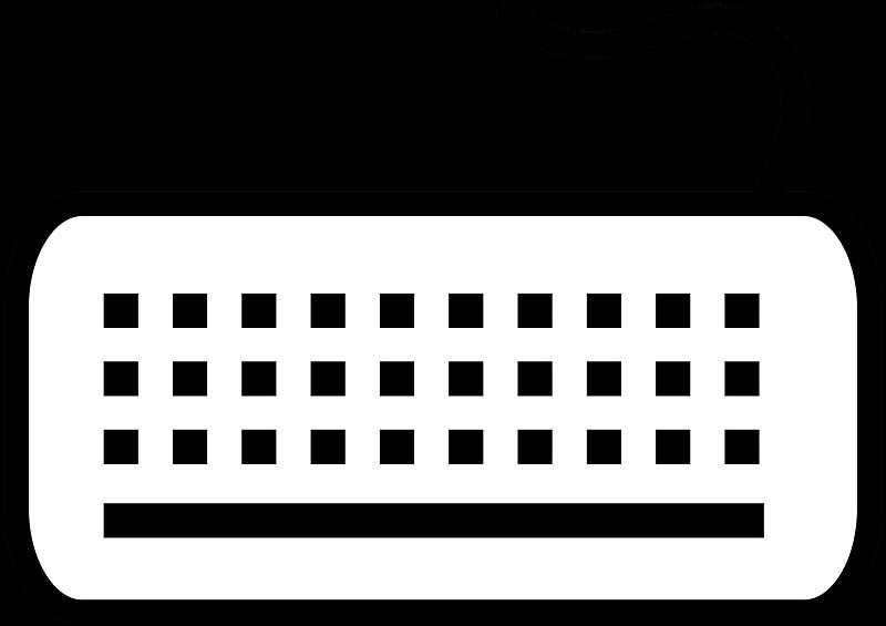 Keyboard clipart transparent 8