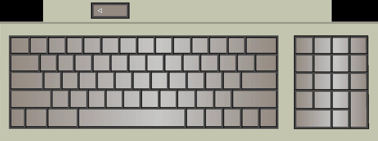 Keyboard clipart transparent 9