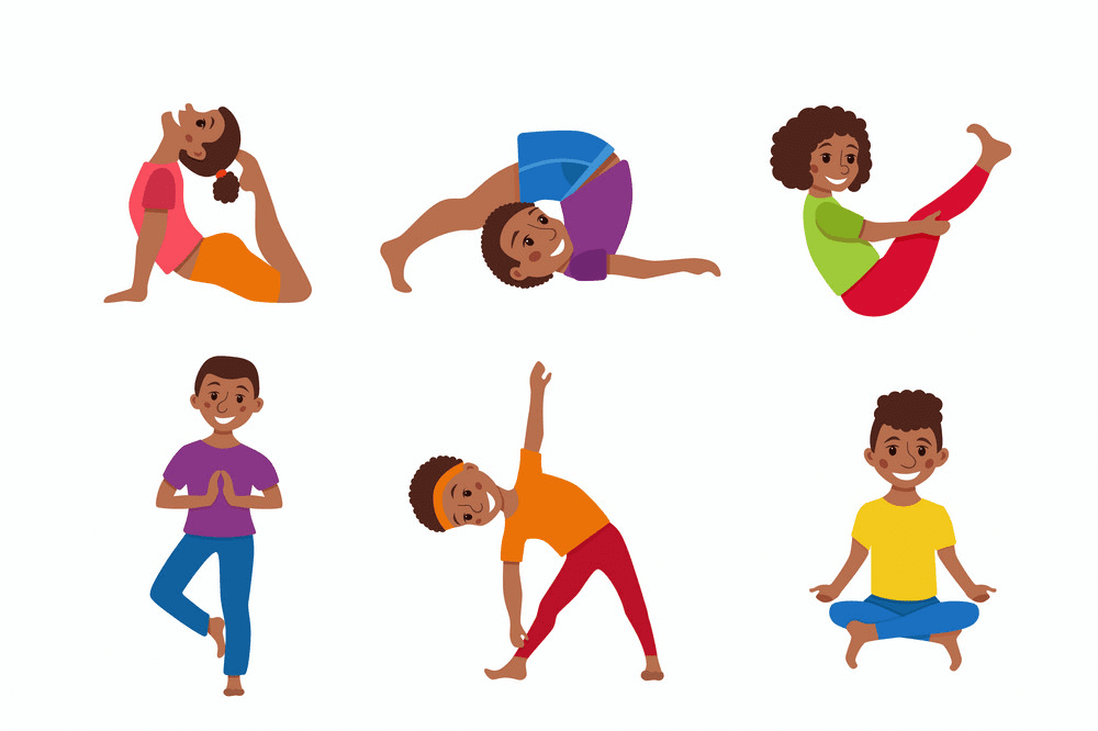 Kids Exercise clipart for free