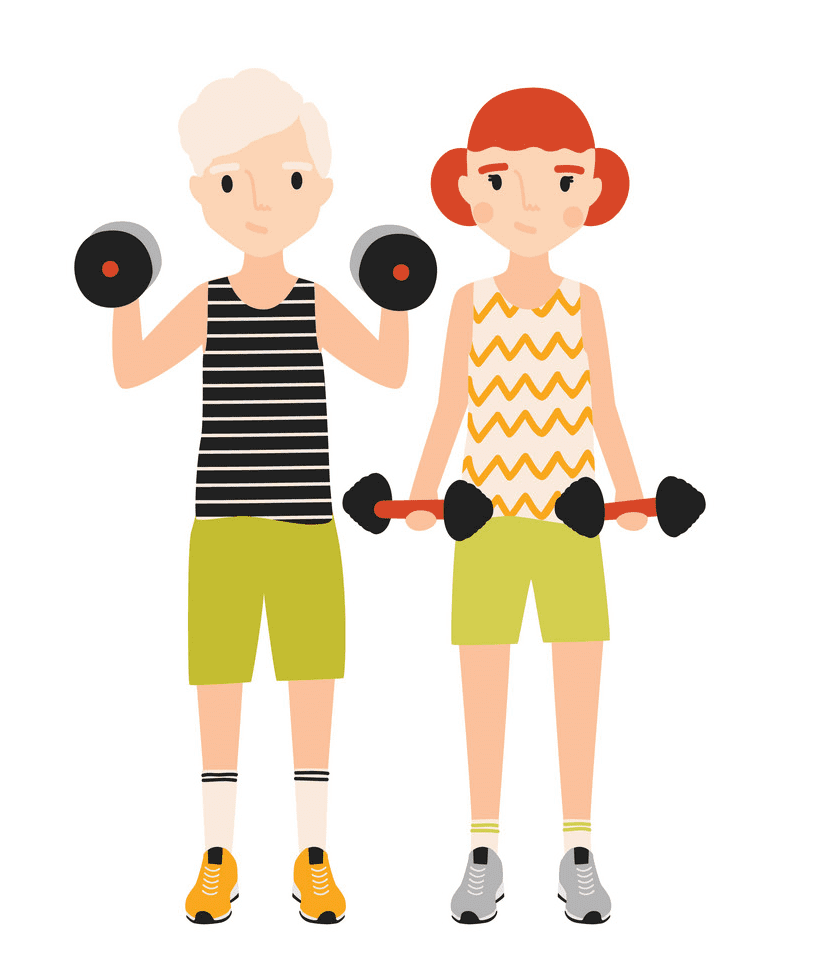 Kids Exercise clipart free images