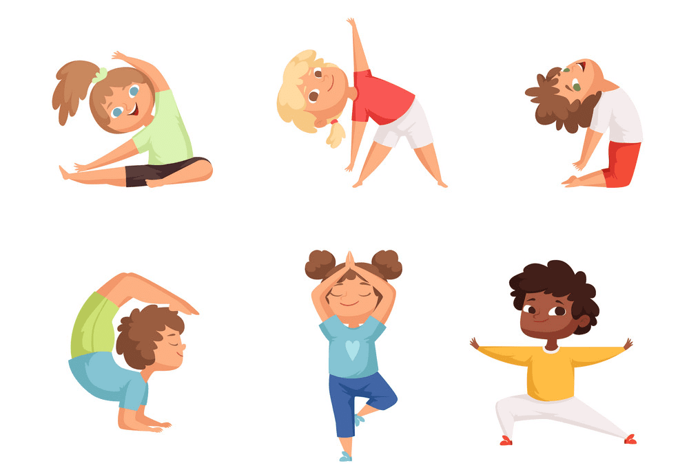 Kids Exercise clipart images