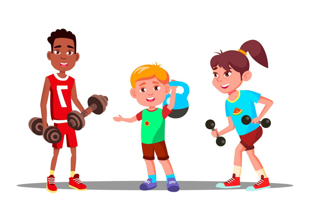 Kids Exercise clipart png image