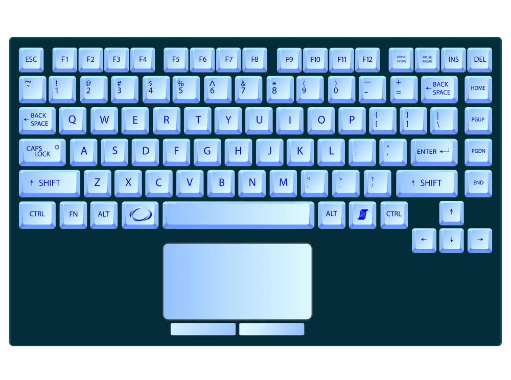 Laptop Keyboard clipart