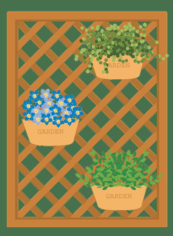 Lattice Gardening clipart transparent