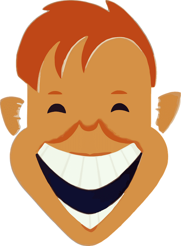 Laughing clipart transparent background 11