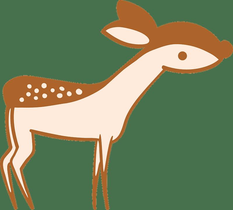 Little Deer clipart transparent background