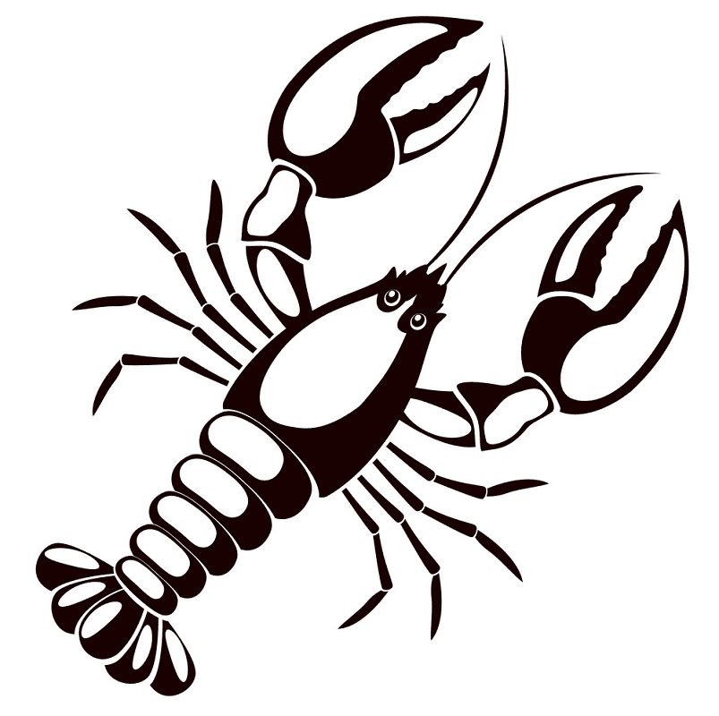Lobster Clipart Black and White