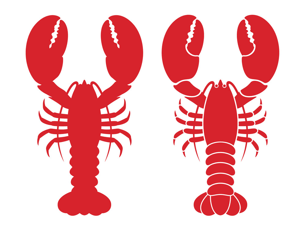 Lobsters clipart