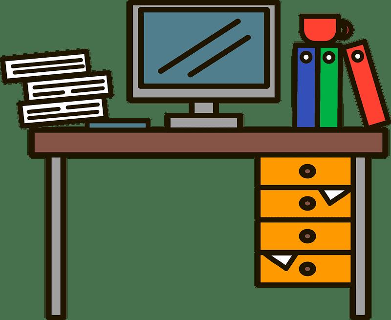 Messy Desk clipart transparent 1