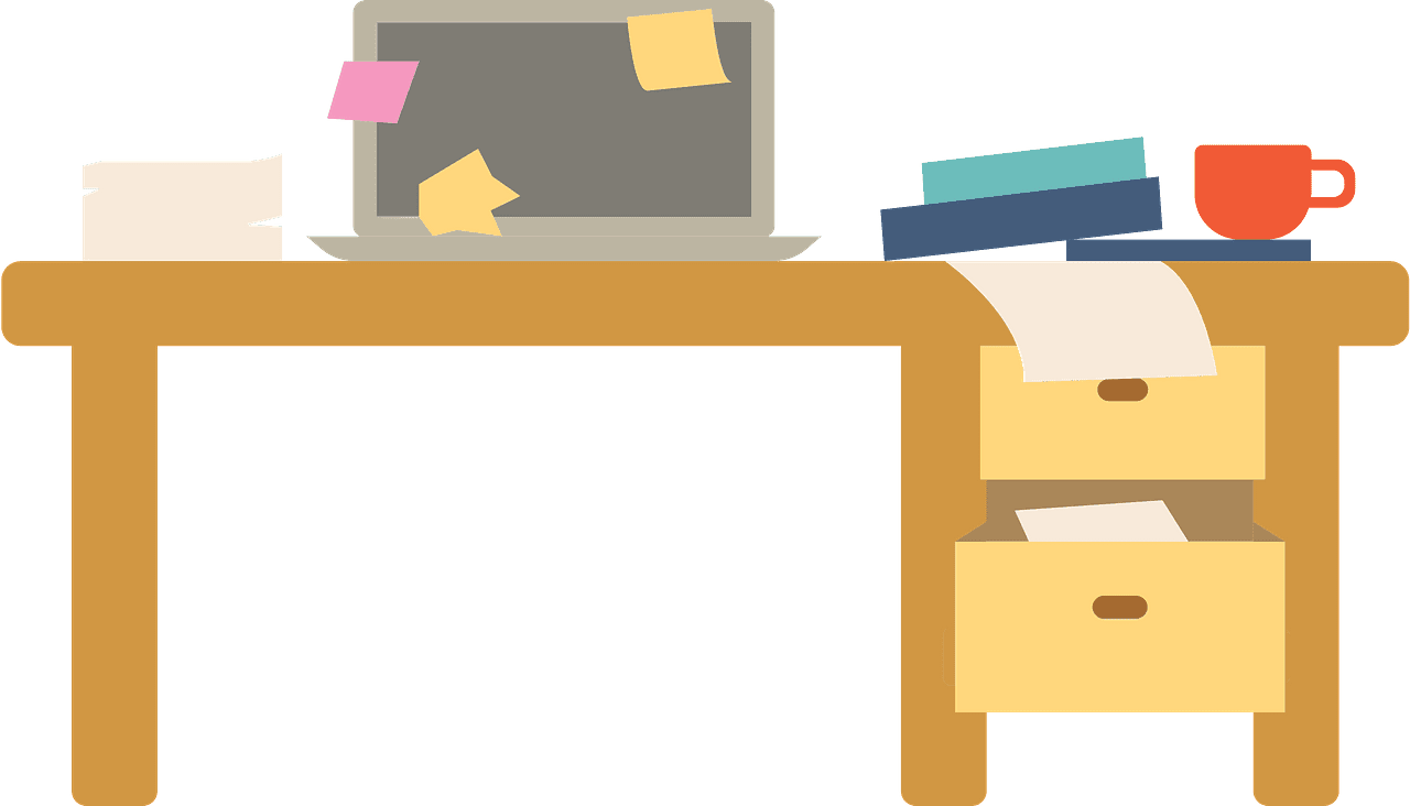Messy Desk clipart transparent 2