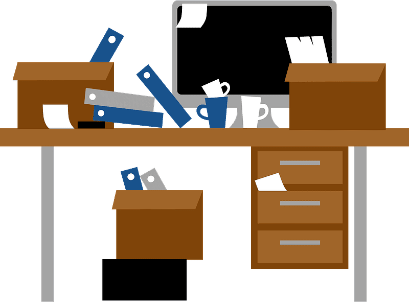 Messy Desk clipart transparent 3