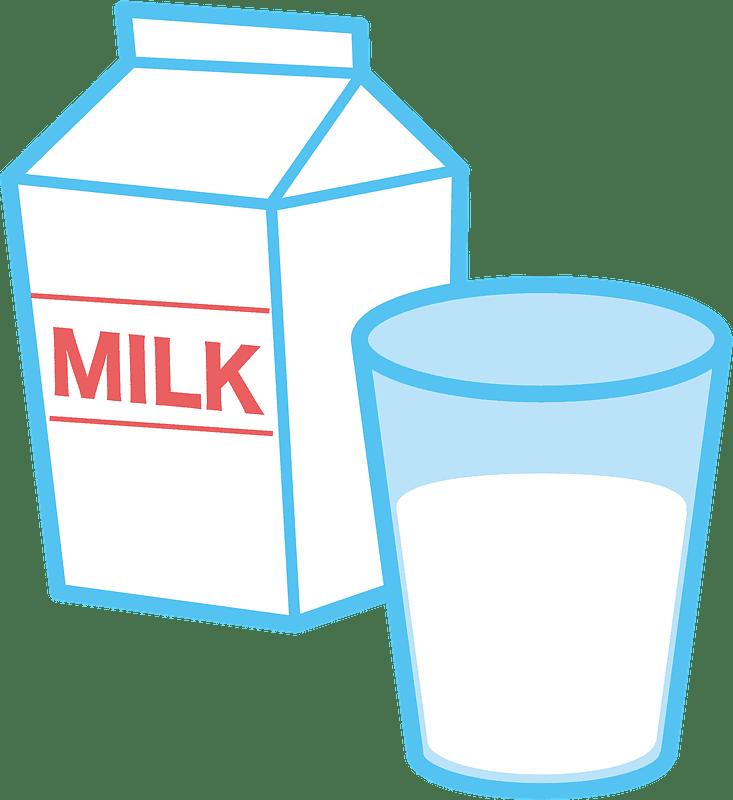 Milk clipart transparent background 7