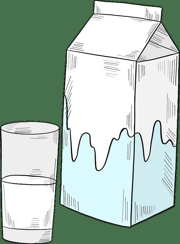 Milk clipart transparent background 8