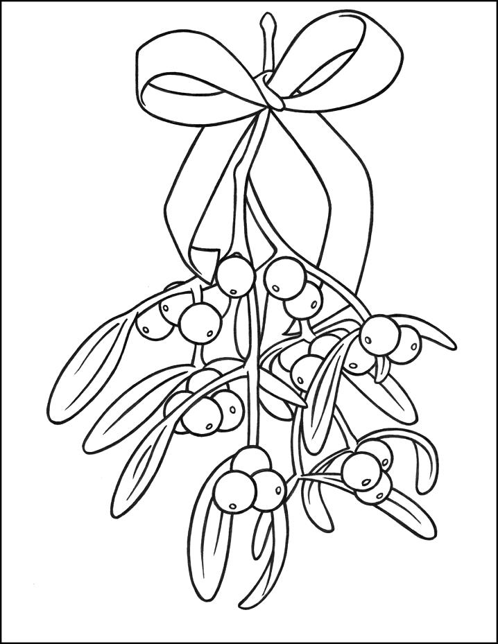 Mistletoe Clipart Black and White 1