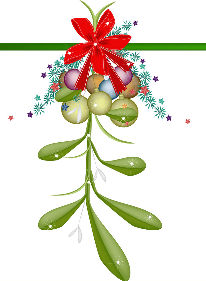 Mistletoe clipart 4