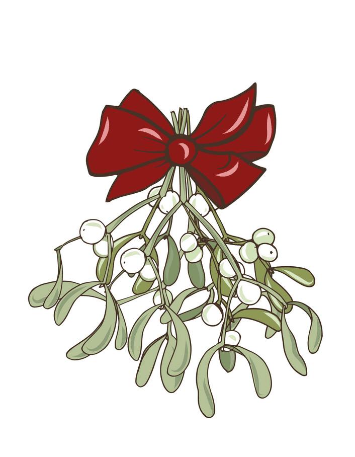 Mistletoe clipart for free