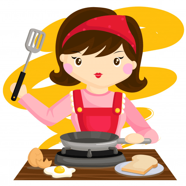 Mom Cooking clipart 1