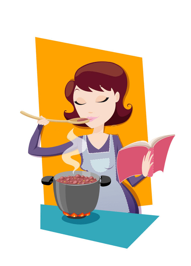 Mom Cooking clipart 2