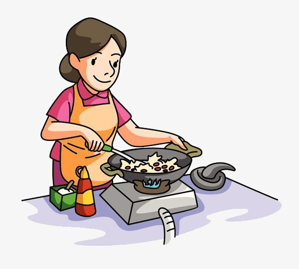 Mom Cooking clipart 3