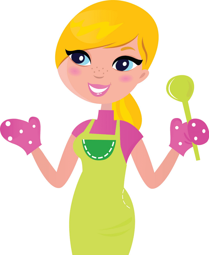 Mom Cooking clipart free image