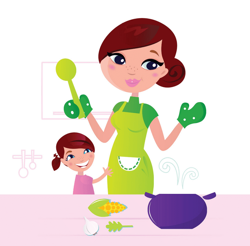 Mom Cooking clipart free images