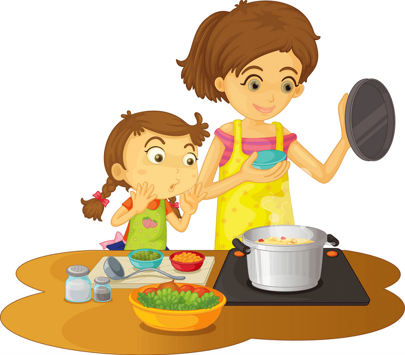 Mom Cooking clipart free