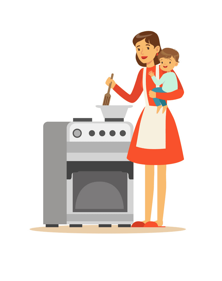 Mom Cooking clipart image