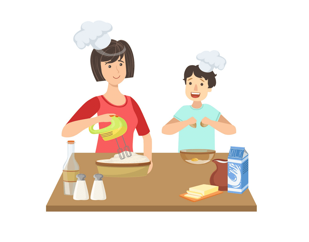 Mom Cooking clipart images