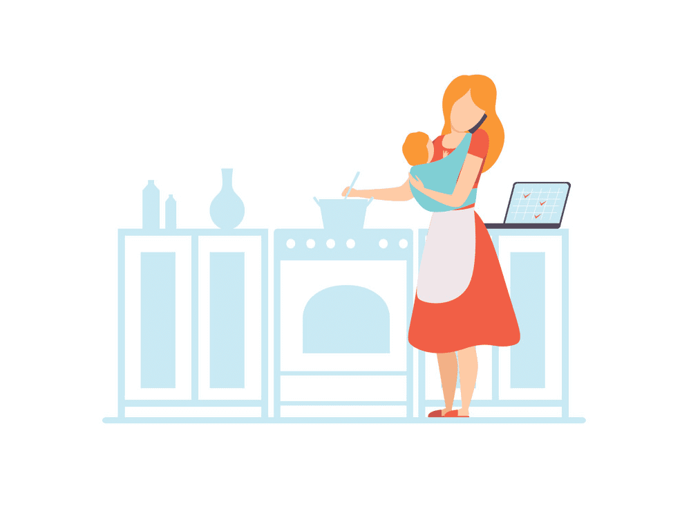 Mom Cooking clipart png images