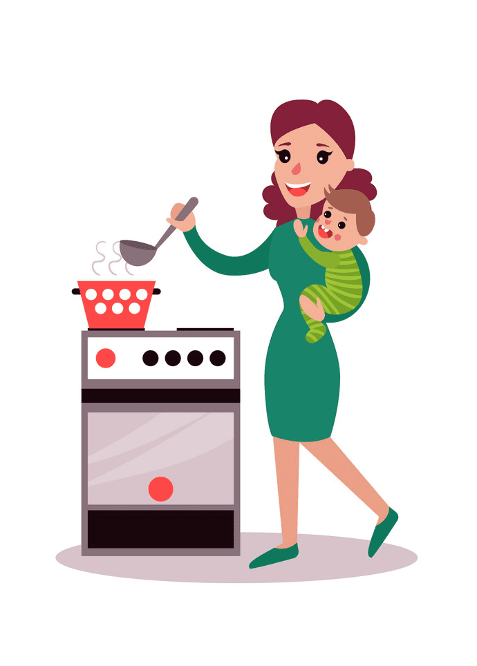 Mom Cooking clipart png