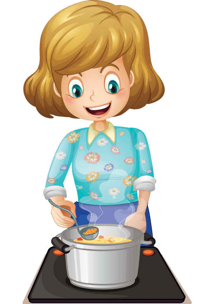 Mom Cooking clipart