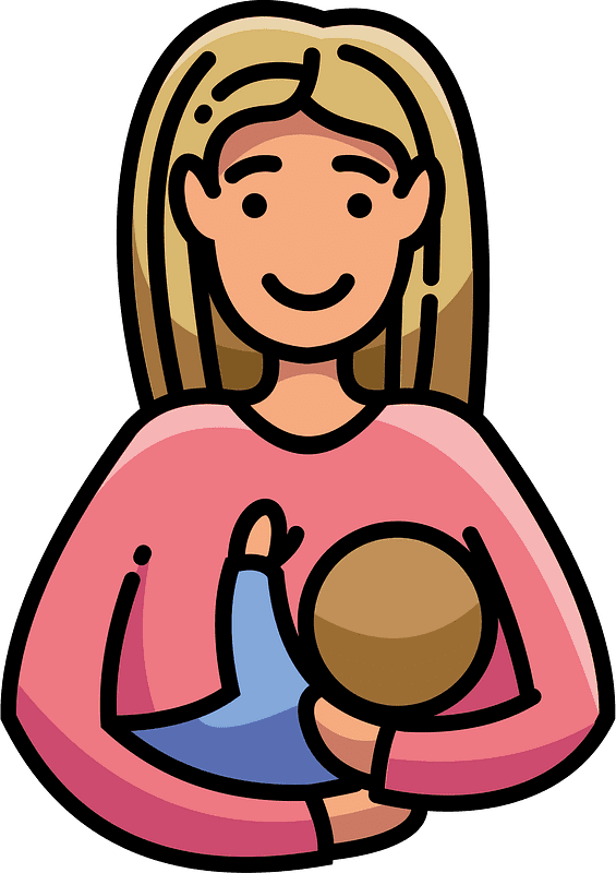 Mom and Baby clipart transparent 1