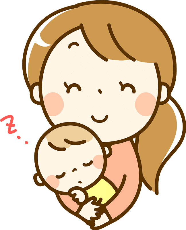 Mom and Baby clipart transparent 2