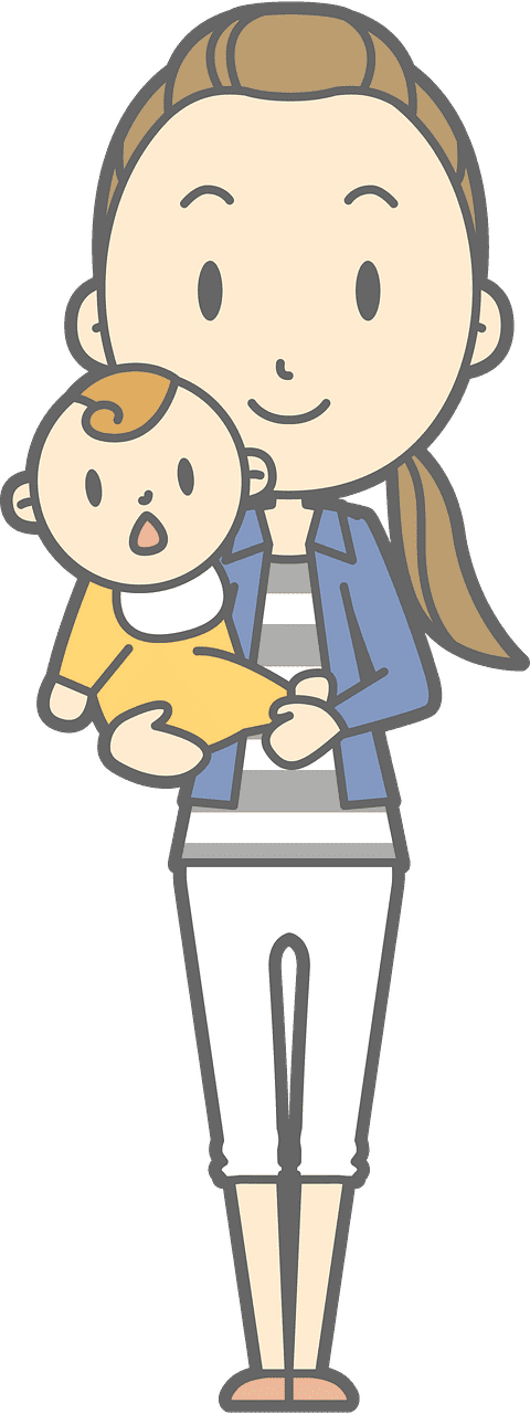Mom and Baby clipart transparent 3