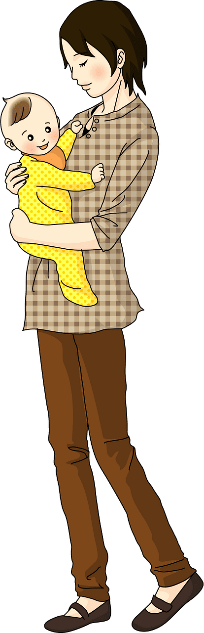 Mom and Baby clipart transparent 4